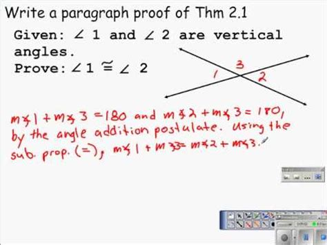 list of reasons for geometric proofs reference geometry proving angles congruent vertical angles
