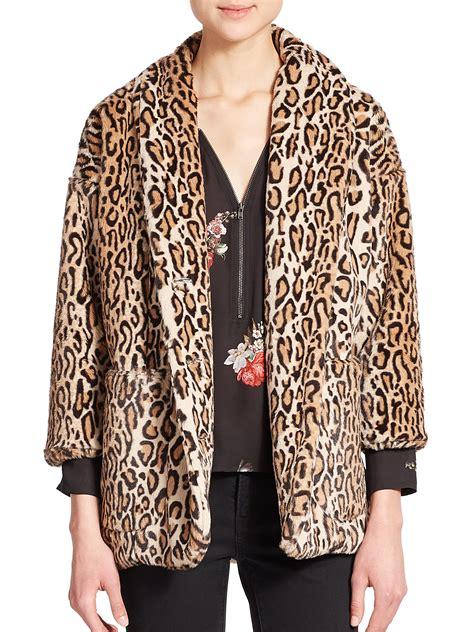 Print Jacket lyst the kooples faux fur leopard print jacket