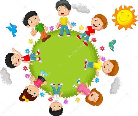 imagenes caricaturas alegres ni 241 os felices caricaturas vector de stock 169 tigatelu