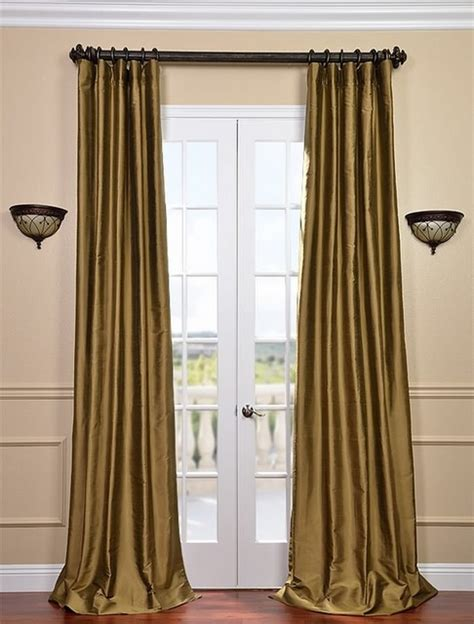 thai silk drapes taupe gold thai silk curtains traditional curtains