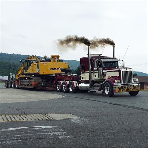 kenworth heavy haul kenworth custom w900l heavy haul with a kotmasu excavator