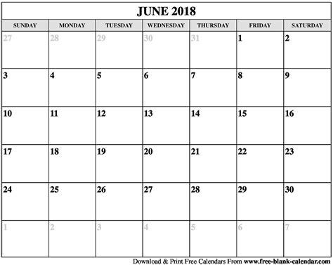 printable calendar 2018 june blank june 2018 calendar printable