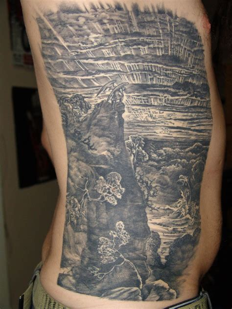 paradise lost tattoo back done by warren of winstons adelaide