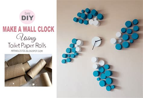 What Can I Make With Toilet Paper - holistic make a wall clock using toilet paper rolls