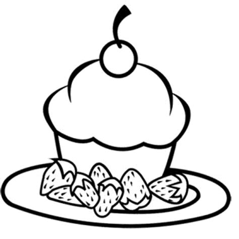 large cupcake coloring page 9 best images of large cupcake printable birthday