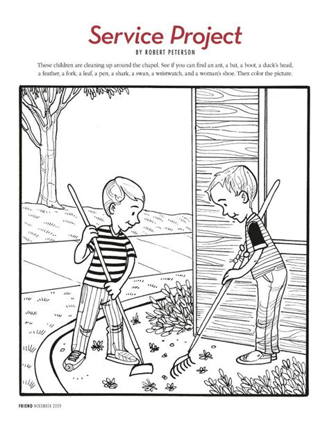 lds printable hidden pictures free lds clipart to color for primary children service