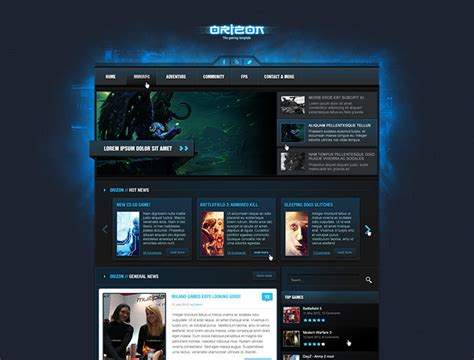 gaming templates 28 amazing psd magazine website templates web graphic