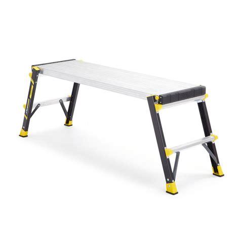 gorilla work bench gorilla ladders 3 92 ft x 1 17 ft x 1 67 ft slim fold