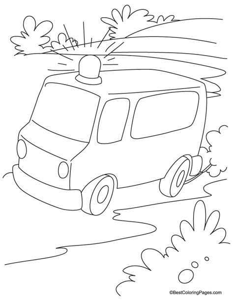 ambulance coloring page free ambulance coloring page coloring home