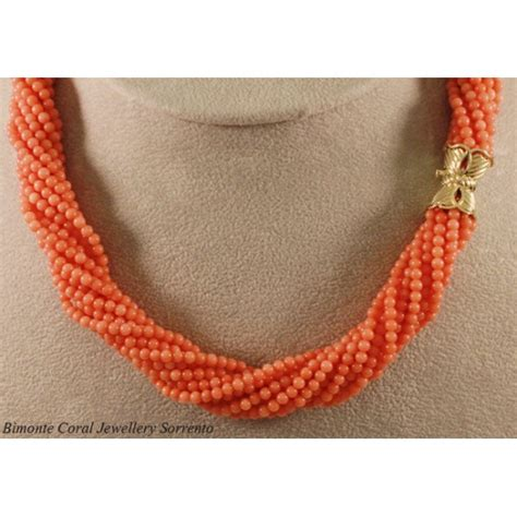 pink coral bead necklace pink coral rope necklace the coral jewelry sorrento