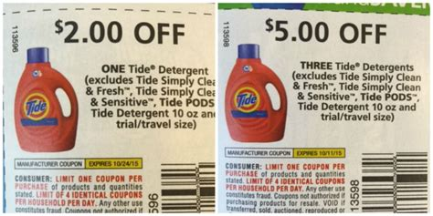 printable tide detergent coupons high value tide coupons in today s inserts stock up on