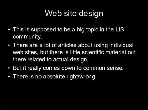 lis  lecture  web site design thomas