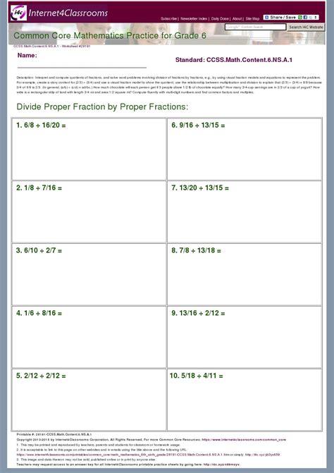 6 Ns 1 Worksheets by Description Worksheet 28191 Ccss Math Content