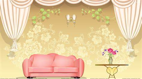 Brown Living Room Clipart Brown Digital Background And Sofa Wallpaper