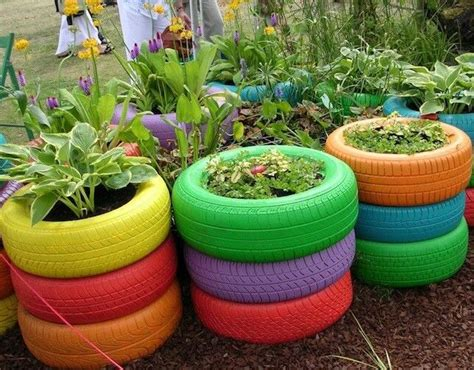 tire flower beds raised flower beds with tires gardening pinterest