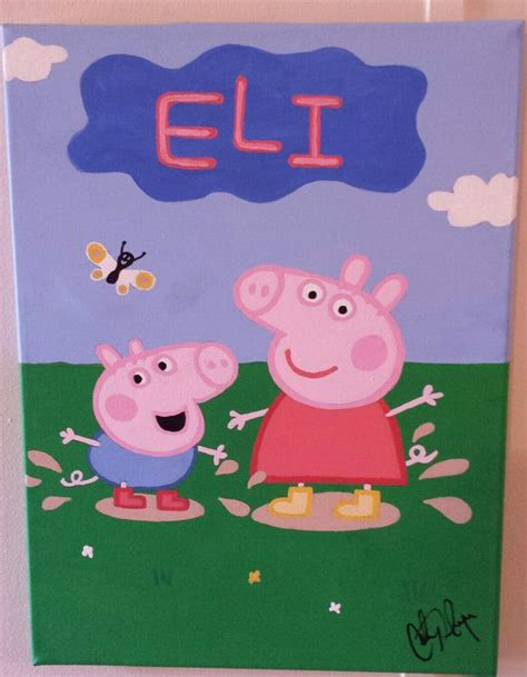 25 best ideas about peppa pig painting on pepper pig world peppa pig birthday
