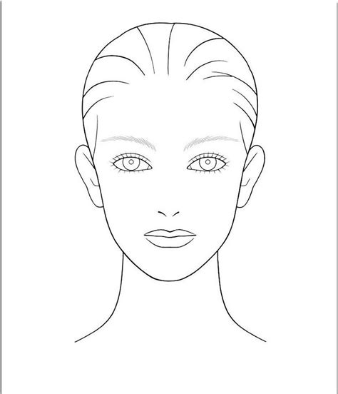 templates for drawing faces makeup templates face blank makeup face template make