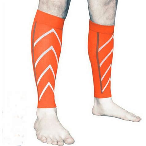 pair calf support compression leg sleeve sports running