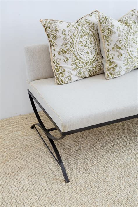 wrought iron curule style dining banquette bench  stdibs