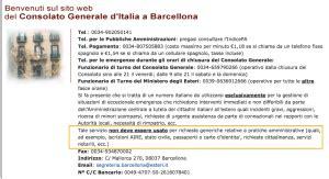 consolato italiano telefono una poco tranquilla vacanza a barcellona documenti