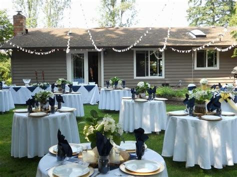 backyard party setup best 25 small backyard weddings ideas on pinterest