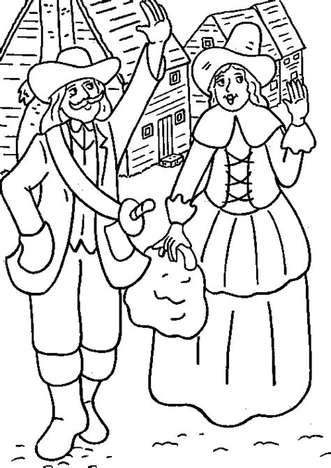 pilgrim family coloring page thanksgiving coloring pages pilgrims