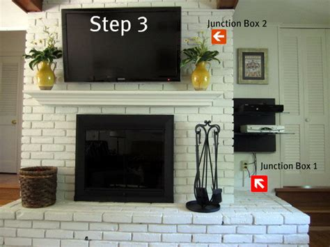how to mount a tv on a brick fireplace on sutton place