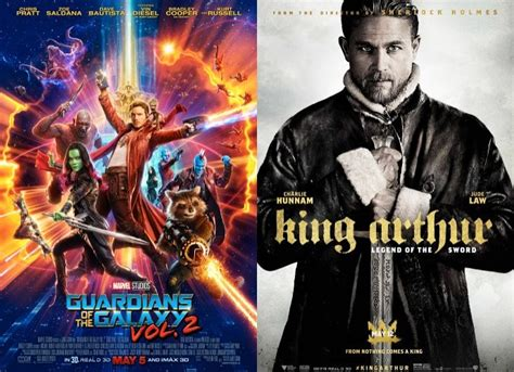 film box office no sensor gotg vol 2 remains at no 1 at box office king arthur
