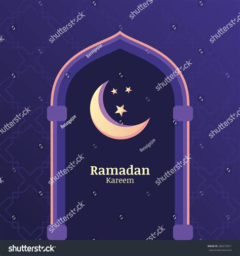Ramadan Kareem Greeting Card Template by Ramadan Kareem Vector Background With Sky Moon