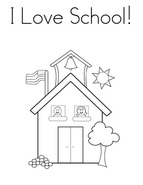 pin school house coloring pictures on pinterest