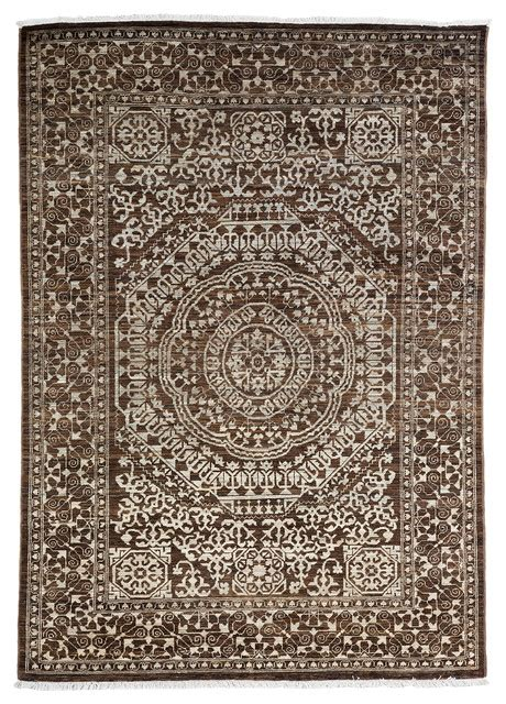 Area Rug 4x6 Ziegler Wool Area Rug Brown 4x6 Traditional Area Rugs By Rugs