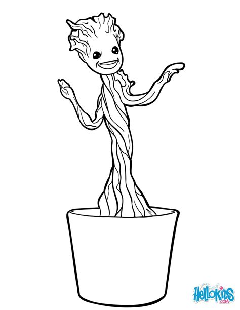 coloring page baby groot little groot coloring pages hellokids com