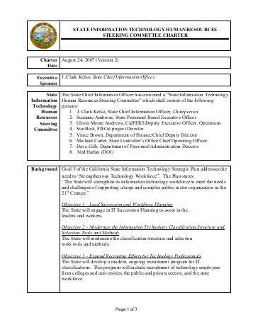 charter template for a committee committee charter template images