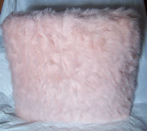 Fuzzy Pink Pillow by Princess Pink Faux Fur Fuzzy Throw Pillow