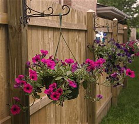 Decorate Your Fence by Decorate The Inside Of Your Fence With Hanging Baskets