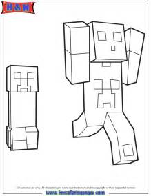 minecraft creeper colo coloring pages