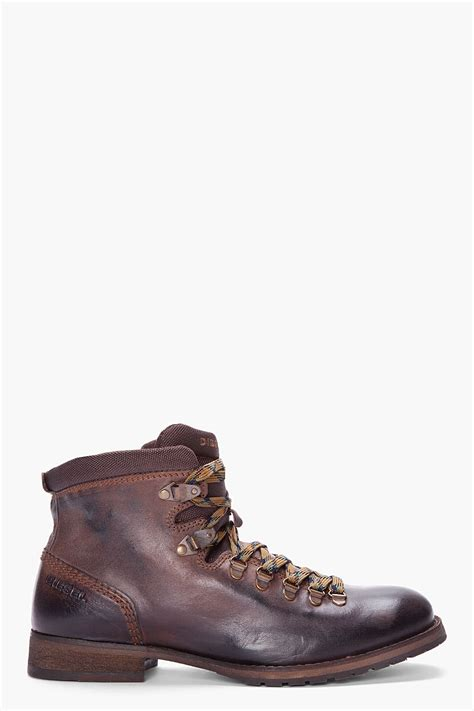 Chocolate And Shoes Be Still My by Diesel Chocolate Hightop Still Trek Boots In Brown For