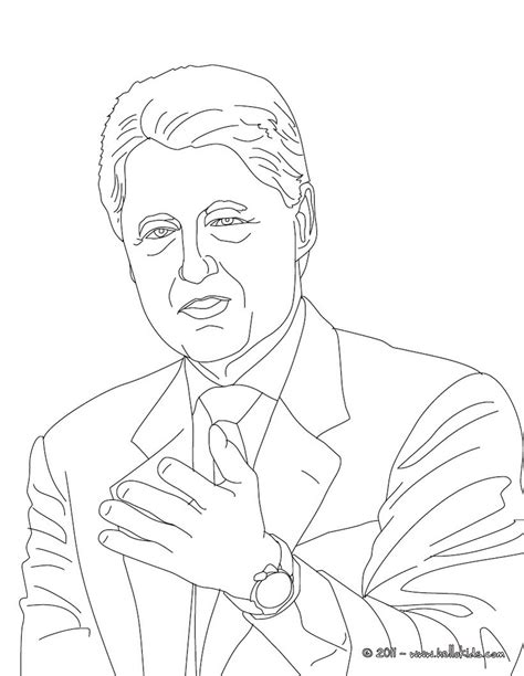 President William Clinton Coloring Pages Hellokids Com Us Presidents Coloring Pages