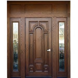 Wood door with frame hpd416 solid wood doors al habib panel doors