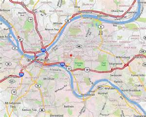 Pittsburgh Map Usa by Pittsburgh Map Free Printable Maps