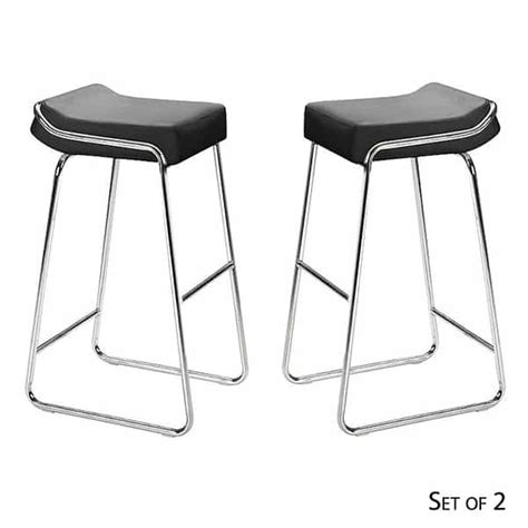zuo modern bar stool wedge bar stools black
