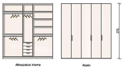 altezza armadio standard progettazione arredamento