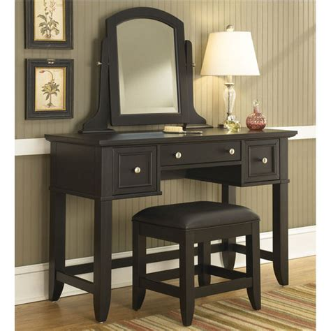vanities with mirrors and benches home styles bedford black vanity table mirror bench kitchensource com