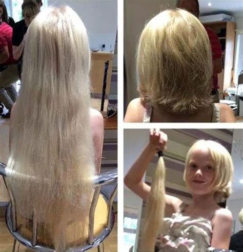 little girl haircuts before and after charlie tillotson chops off hair and donates to cancer wig