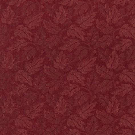 red floral upholstery fabric burgundy red leaf floral heavy duty crypton fabric by the
