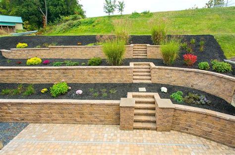 hillside patio backyard steep small  hill landscaping