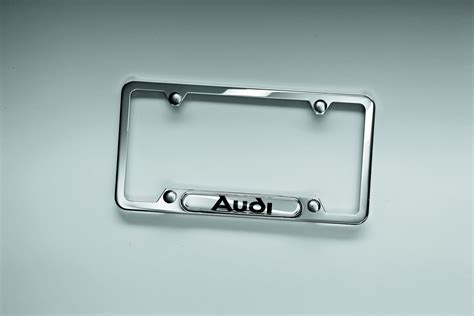 flow audi charlottesville va 2016 audi q5 license plate frame with audi logo polished