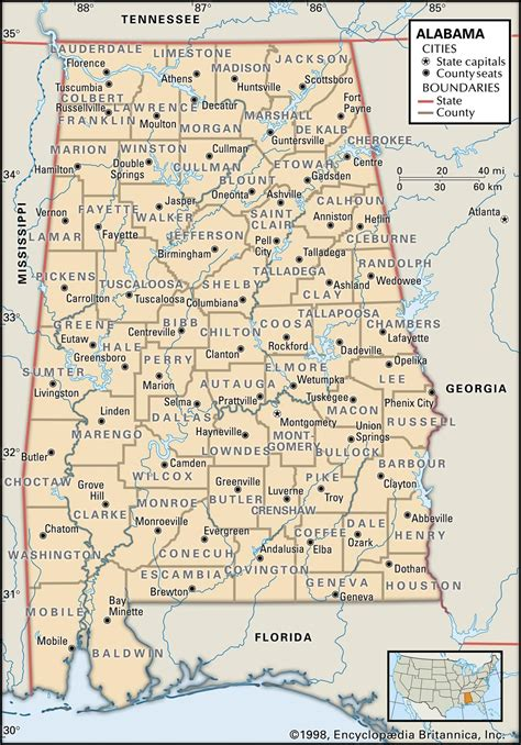map of alabama counties alabama maps and atlases