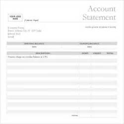 blank bank statement template bank statement 9 free sles exles format
