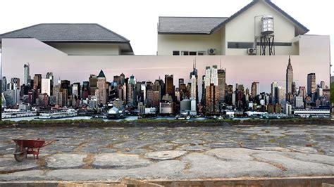 lukisan gedung  dinding kamar sabalukisan